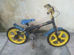 Bicicleta Caloi usada aro 16, faço entrega