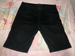 Bermuda jeans preta tam 44