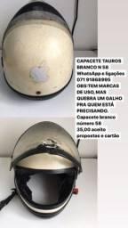 CAPACETE TAUROS BRANCO N 58