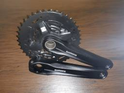 Pedivela Triplo Shimano MT210 40/30/22 Integrado