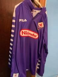 camisa fiorentina 98/99 batistuta manga longa