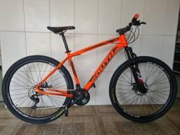Bicicleta aro 29 freio a disco nova alumínio