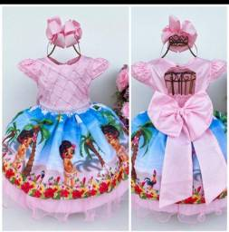 Título do anúncio: Vestido infantil Moana baby