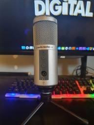 Título do anúncio: Microfone condensador usb atr2500 Audio Téchnica,