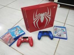 Título do anúncio: PS4 pro edição especial spiderman