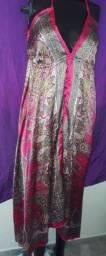 Vestido cor modelo igual foto veste Veste M e G
