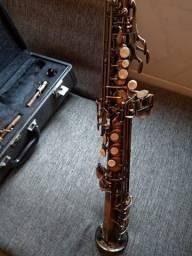 Sax Soprano Condor Css42a Antique Silver (.(.(. Zerado ).).)