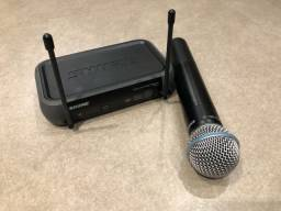 Microfone Shure sem fio Pgx4 sm58 wireless