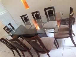 Mesa jantar 08 lugares + mesa de centro