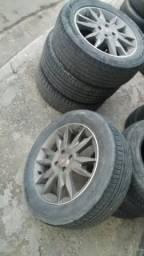Rodas aro 16 original Fiat com pneus filé