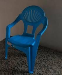 Cadeirinha de Plástico Infantil Azul
