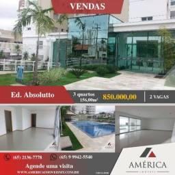 Apartamento novinho no Ed. Absolutto, 03 SUÍTES, com 156m e 02 vagas de garagens, confira!