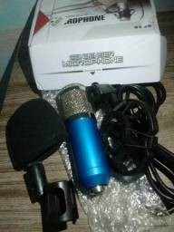 Bm800+Braço articulado+Placa de audio USB
