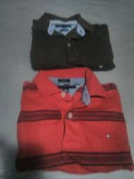 e77c7bfc6 Camisas polo Tommy tamanho M veste G