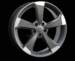 Jogo de Rodas aro 19 5 Furos Modelo Audi Rs3/S5 Marca Motorcrazy Acabamento GFD