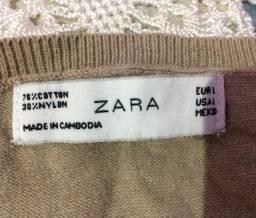 suéter nude Zara