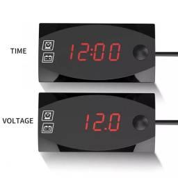 Relógio para moto 12v