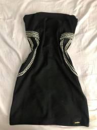 Vestido tomara que cai preto
