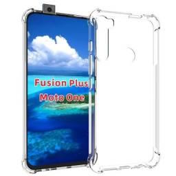Capinha case capa anti impacto Motorola moto one Fusion Plus