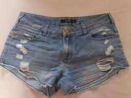 Short jeans feminino clock house (38)