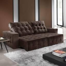 Sofa retratil e reclinavel( acento em molas especiais)