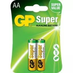 Pilha Alcalina Aa Pequena Gp Super C/ 2 Unidades