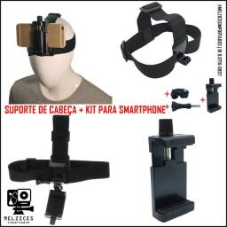 Suporte de Cabeça para GoPro, Similares e Smartphone