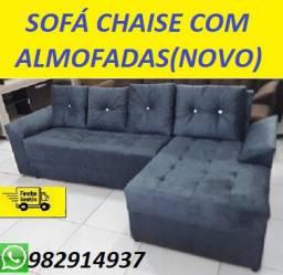 Super Desconto!!Sofa Chaise+3 Lugares Com Almofadas Super Barato+Frete Gratis!!