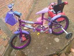 Bicicleta caiuru infantil fadinha