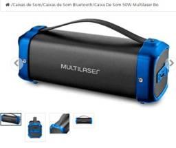 Caixa de som Portátil Multilaser Bazooka 50W TWS