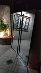 2 Espelhos TOK STOK de chão com moldura em MDF