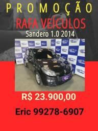 Sandero 1.0 2014 com mil de entrada - Rafa Veiculos -bbt01