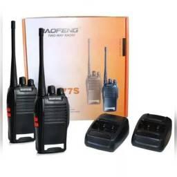 Par aparelho radio comunicador ht baofeng 777s