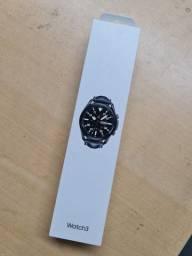 """Galaxy Watch3 45mm Samsung Preto com 1,4"""", Pulseira de Couro, Bluetooth, LTE e 8GB"""