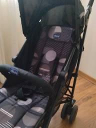 Carrinho para Bebê- Chicco London 4 posições Matrix(preto)