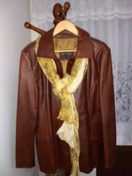 Título do anúncio: Casaco de couro feminino