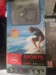 Câmera esportiva profissional full HD 1080px