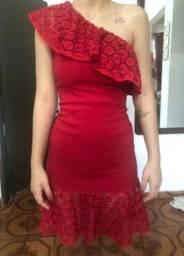 Título do anúncio: Vestido vermelho com babado