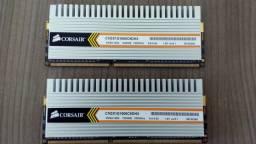 Memórias Corsair DDR3 1600 MHZ 2GB (2X1gb) Nova