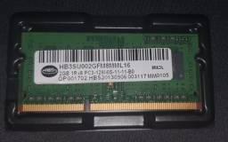 Título do anúncio: DDR3/2GB/NOTEBOOK