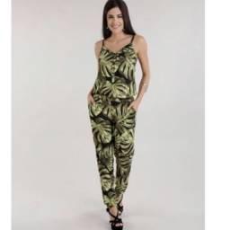Título do anúncio: Macacão comprido verde com preto