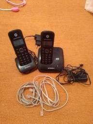 Telefone sem fio Motorola com ramal