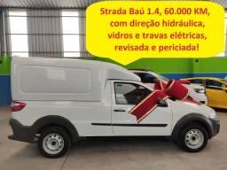 Título do anúncio: Fiat Strada baú 1.4 c/direção hidráulica,vidros e travas elét. 60.000 km (fiorino,furgão)