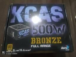 Fonte Aerocool Kcas 500w 80 plus bronze