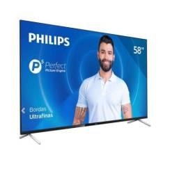 "Smart TV Philips 58"" 58PUG7625/78 4K UHD P5 WI-FI Bluetooth HDR 3 HDMI 2 USB"
