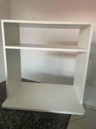 Suporte para microondas madeira mdf nicho prateleira branco