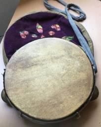 Pandeiro Artesanal de Couro + Capa Bag artesanal