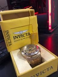 Relógio invicta original ponteiros de prata