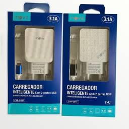 Carregador Turbo celular Ultra rápido 3.1 (TIPO C) Inova Samsung Motorola Xiaomi Promoção!