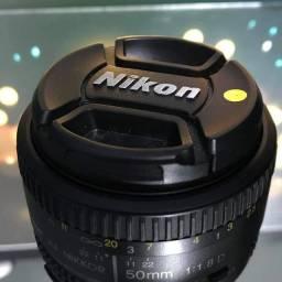 Título do anúncio: Lente Nikon 50mm 1.8D
